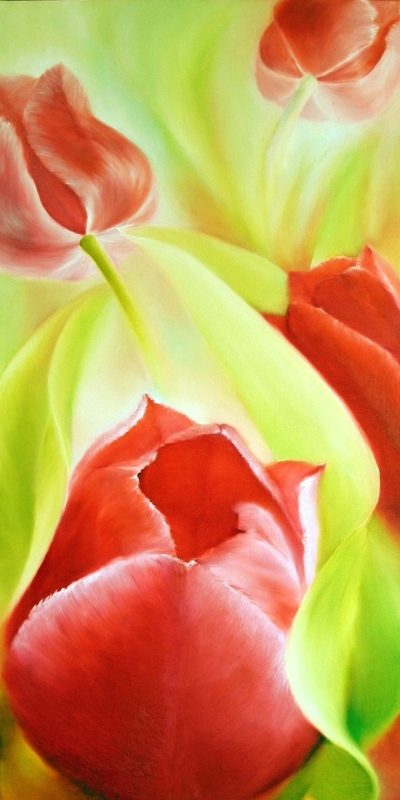 painting of tulips