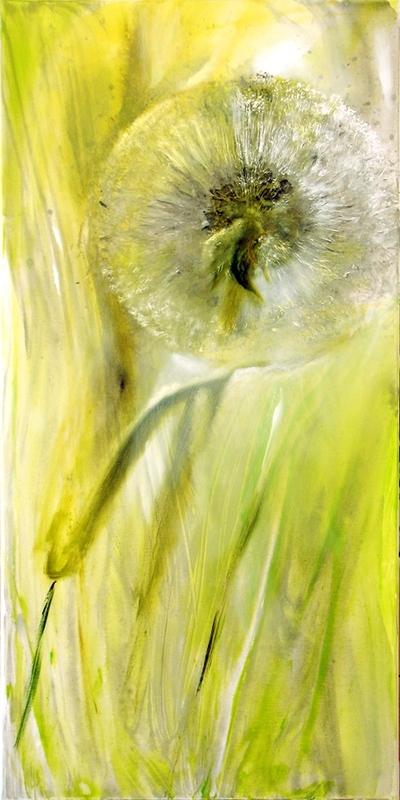 painting of dandelion