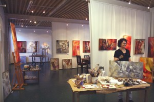 photographs showing the studio of annette schmucker