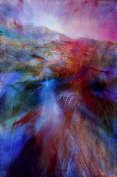 painting of an abstract landscape