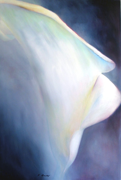 painting of a calla
