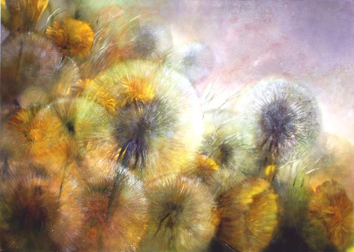 painting of dandelions