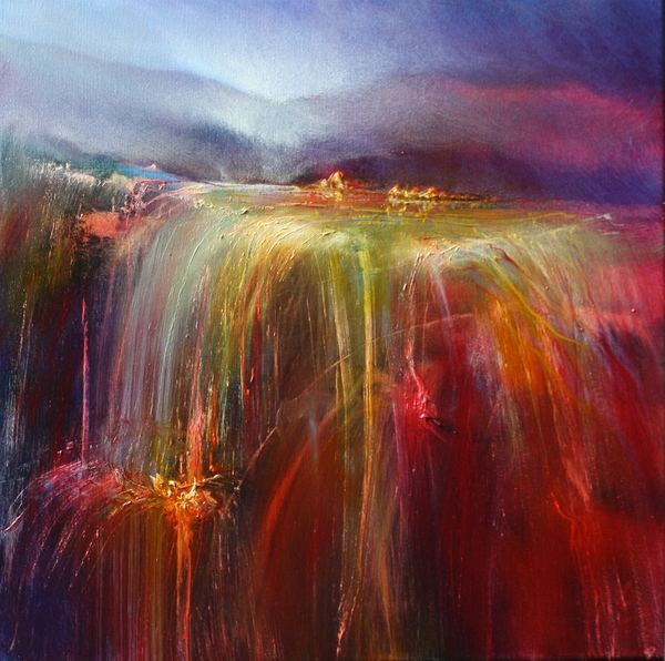painting of a abstract landscape